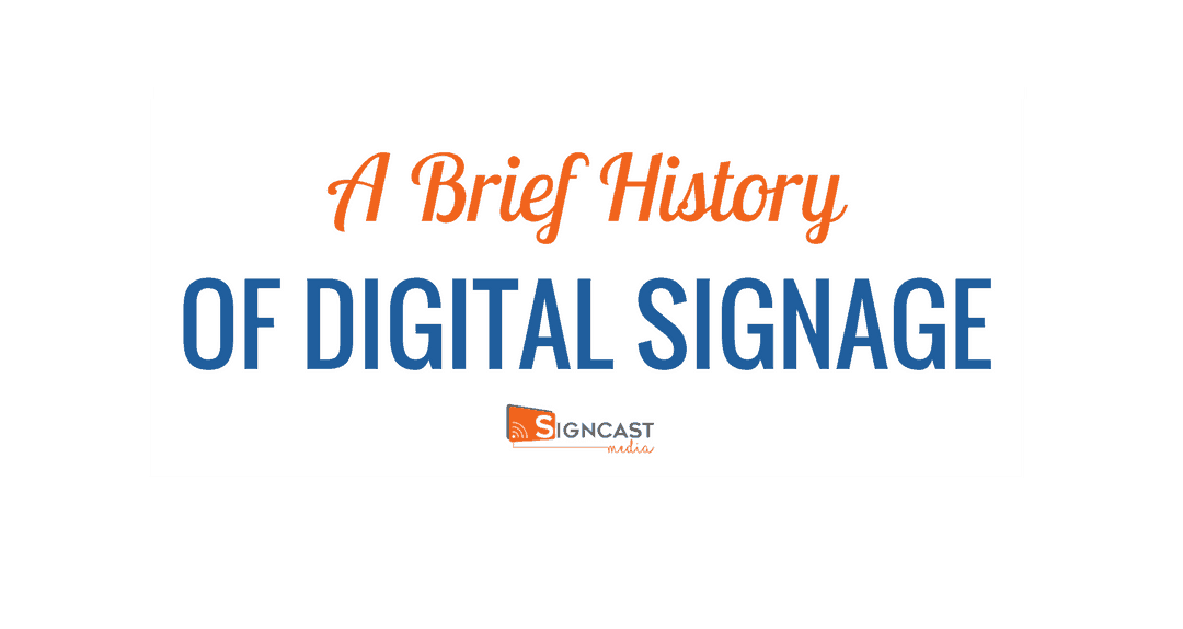 INFOGRAPHIC: A Brief History Of Digital Signage