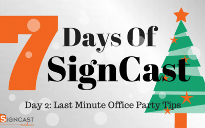 Day 2: Last Minute Office Party Tips