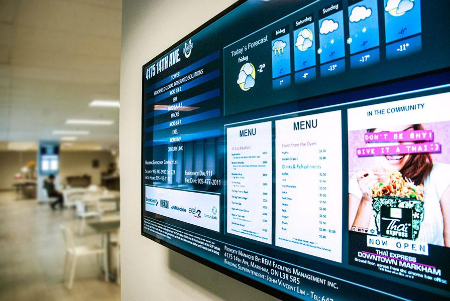 digital signage company digital directory display for markets