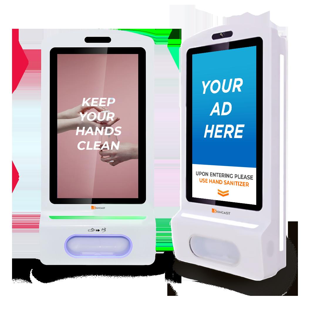 Signcast Hand Sanitizer Kiosk